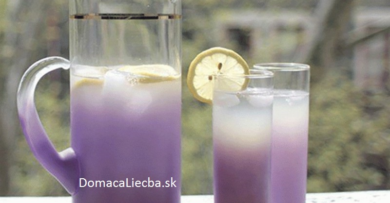 levanduľová limonáda na úzkosti a bolesti hlavy