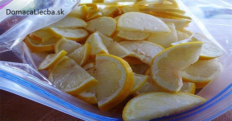 zamrazené citróny
