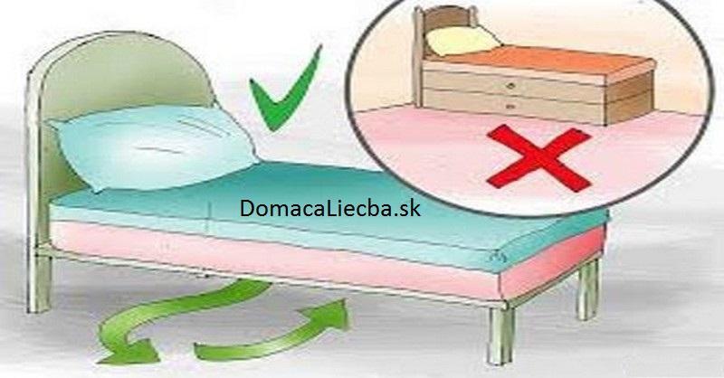 feng shui a veci pod posteľou
