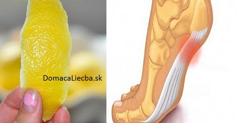 citrónová kôra a bolesti kĺbov