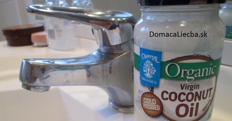 kokosový olej a kupeľňa