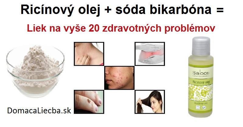 Ricínový olej a sóda bikarbóna: Mocná kombinácia na vyše 20 zdravotných problémov