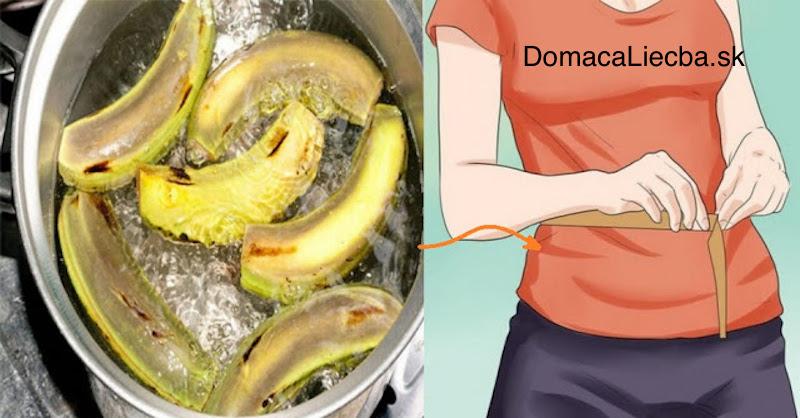 Keď zistíte, čo dokáže banánová šupka s obvodom vášho pásu, prestanete ju vyhadzovať
